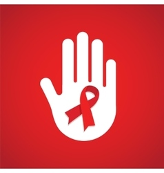 world AIDS day hand holding HIV test tube vector image