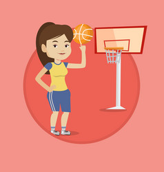 young basketball player spinning ball vector image