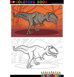 tyrannosaurus rex dinosaur for coloring vector image