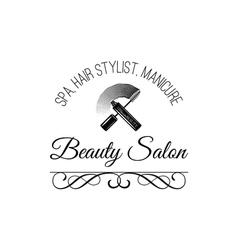 Beauty Salon Label Mascara for Eyelashes Eye vector image