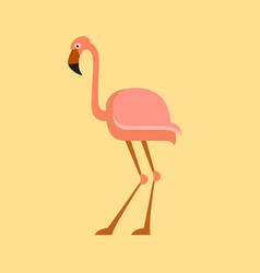 flamingo flat icon vector image