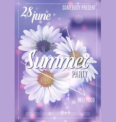 New designe summer party flyer or poster template vector