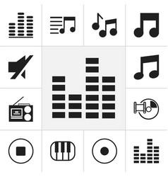 Set of 12 editable media icons includes symbols vector