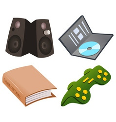 Gaming icon set vector