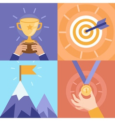 Success concepts vector