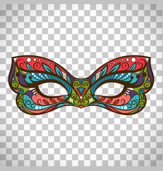 Colored mask in butterfly colors vector