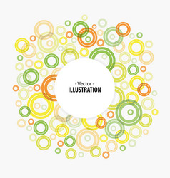 Abstract bright circles background vector