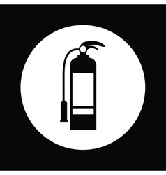 Fire extinguisher design vector