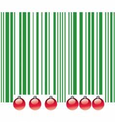 Christmas barcode vector image