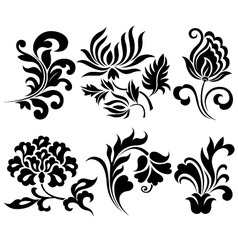 Flower element set vector