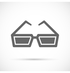 Cinema glasses icon vector