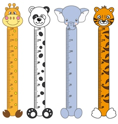 Children meter sticker wall vector