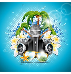 Summer Holiday on a Music and Party theme vector image