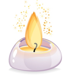 Tealight candle over white background vector