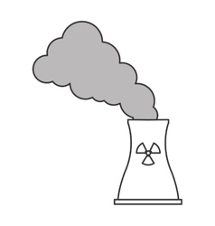Toxic waste contamination icon vector