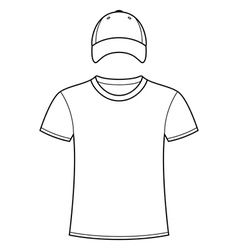 Blank t-shirt and cap template vector image vector image