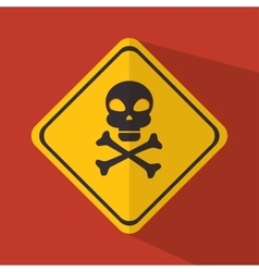 caution signal design vector image vector image