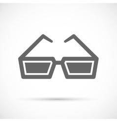 Cinema glasses icon vector