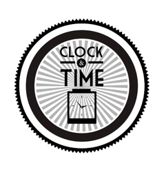 clock and time design vector image vector image