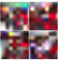 Colorful editable blurred backgrounds set vector image
