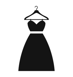 Dress on a hanger simple icon vector image