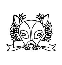 Emblem bear hunter city icon vector