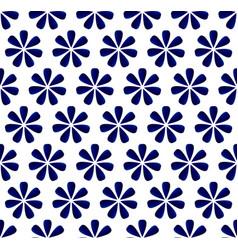 Flower blue pattern vector