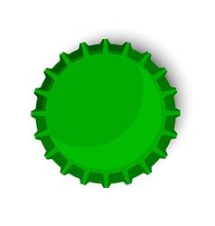 Green bottle cap vector image vector image