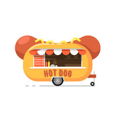 Hot dog outdoor cafe service icon vector