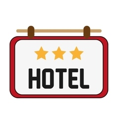 Hotel sign icon vector