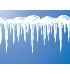 icicles and snow vector image vector image