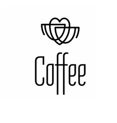 Logo coffee set vector