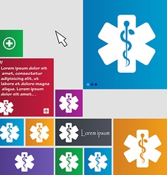 Medicine icon sign buttons Modern interface vector image vector image