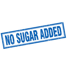 No sugar added square stamp vector