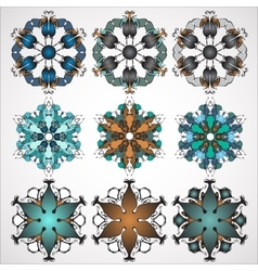 ornamental Mandala set Round pattern vector image