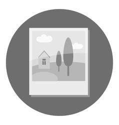 Photo card icon gray monochrome style vector