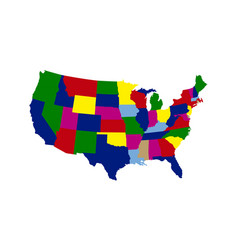 political map of the united states vector image