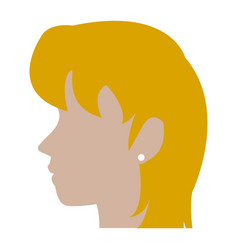 Profile head blonde woman human female avatar vector