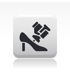 shoe repair icon vector image vector image