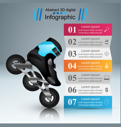 Sport infographic roller icon vector