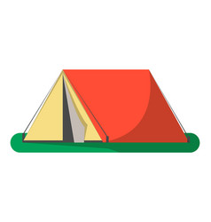 Triangle camping tent icon isolated vector