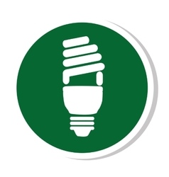 Bulb light energy icon vector