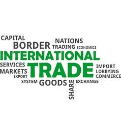 Word cloud international trade vector