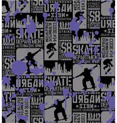 Urban skateboarding vector