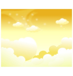 Clouds in sky vector