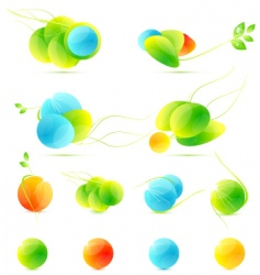colorful icons vector image