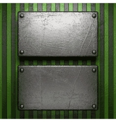 Metal on green background vector