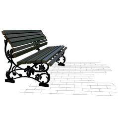 Street bench vector