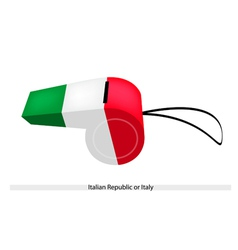 A whistle of the italian republic or italy vector