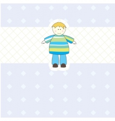 Baby boy arrival card illustration vector